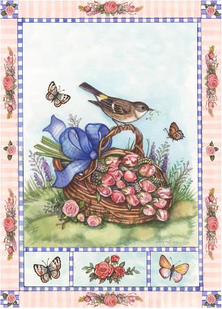 Bird on a basket design
