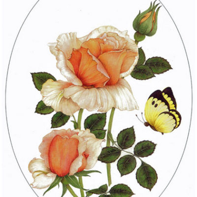 Rose and butterfly.